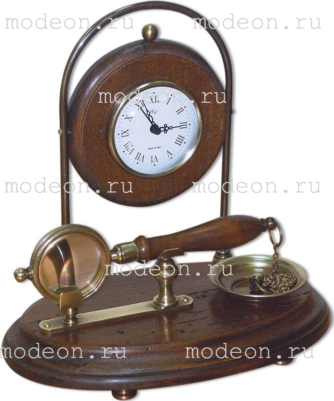 Часы настольные и лупа Джузеппе