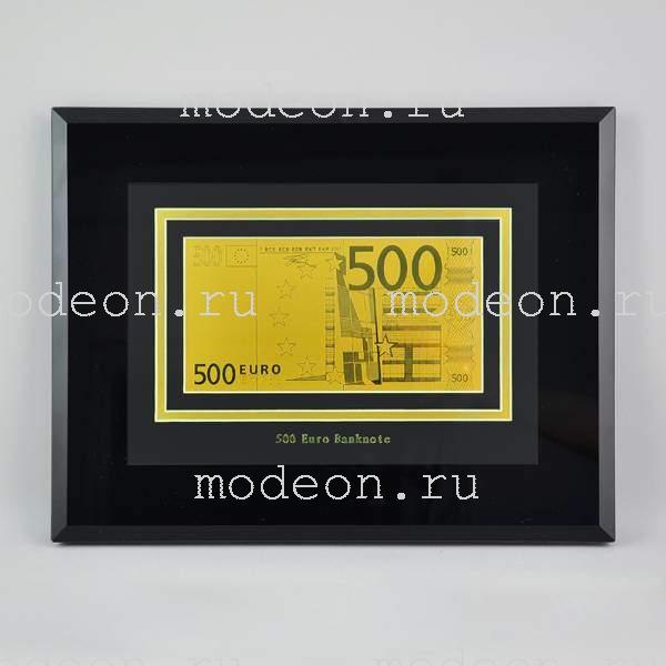 Картина с банкнотой 500 Euro, односторонняя, мод2