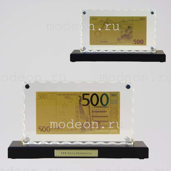 Картина на подставке с банкнотой 500 Euro
