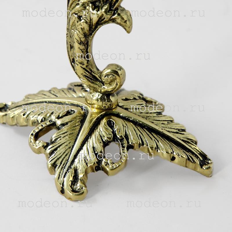 Канделябр 3-х рожковый Флор, золото