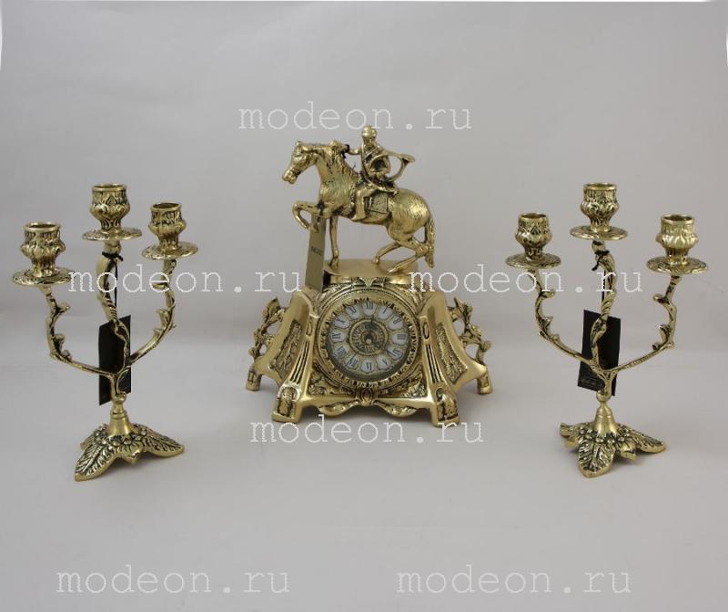 Канделябр 3-х рожковый из бронзы Рендаду