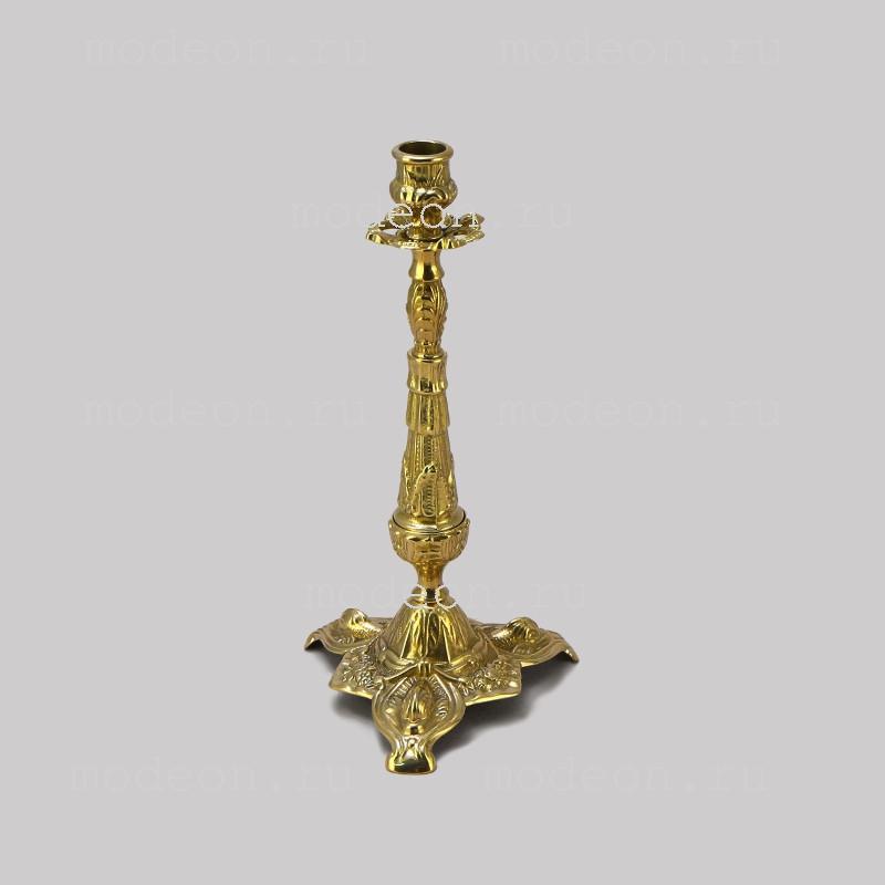 Канделябр  на 1 свечу Бутон, золото