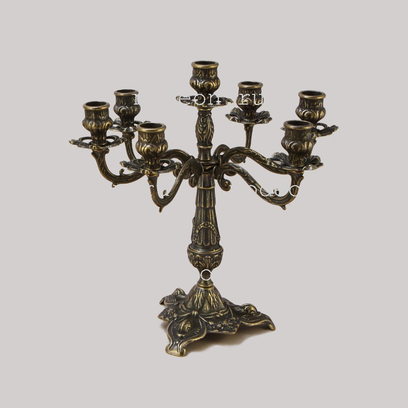 Канделябр на 7 свечей Бутон, антик