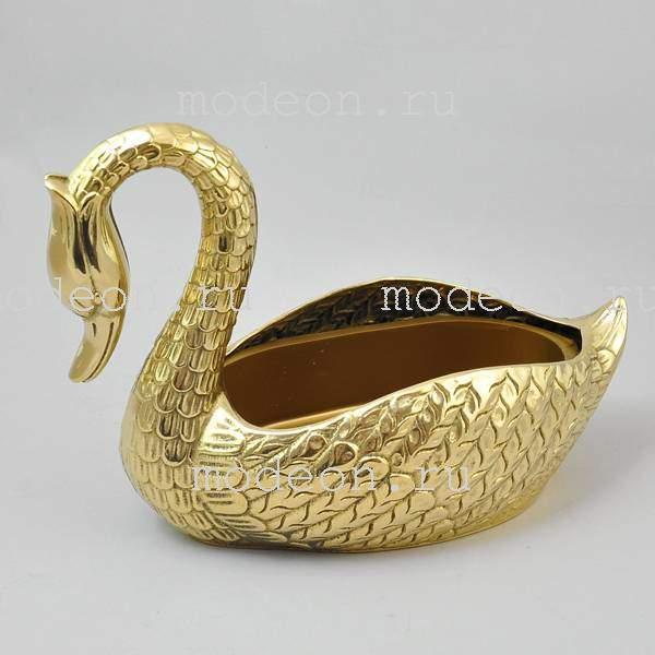 Ваза латунная Лебедь