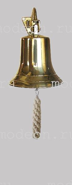 Колокол  корабельный с булинем, золото