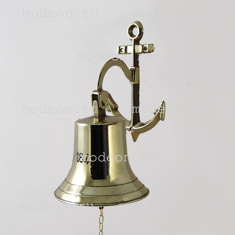 Колокол корабельный  1841 год Д-14, якорь, золото