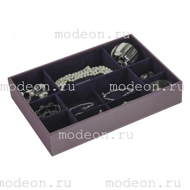 Открытая шкатулка для украшений Бартон-3, фиолет