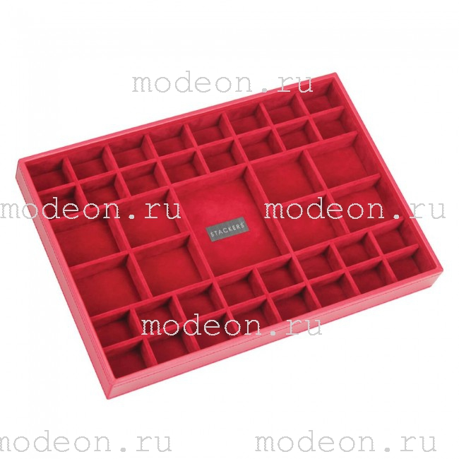 Открытая шкатулка для украшений Бартон-2, красная