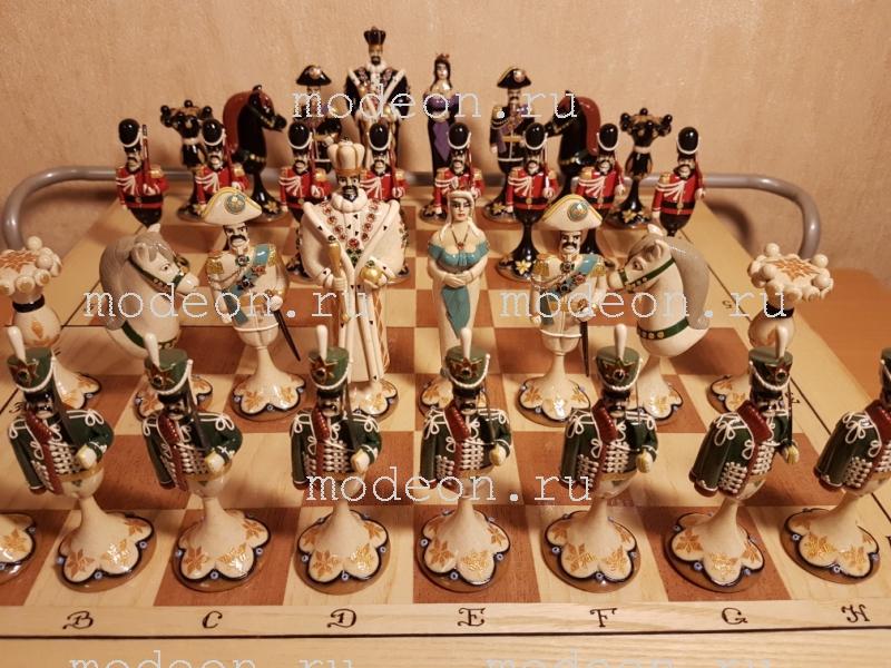 Шахматы на резной доске Гусарская баллада