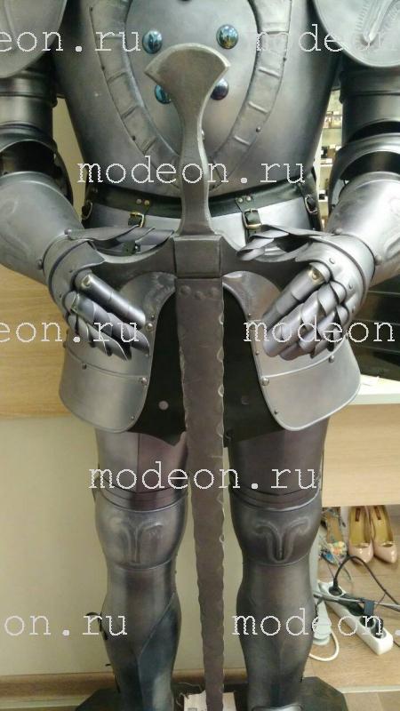 Рыцарь напольный металлический, с мечом 185см