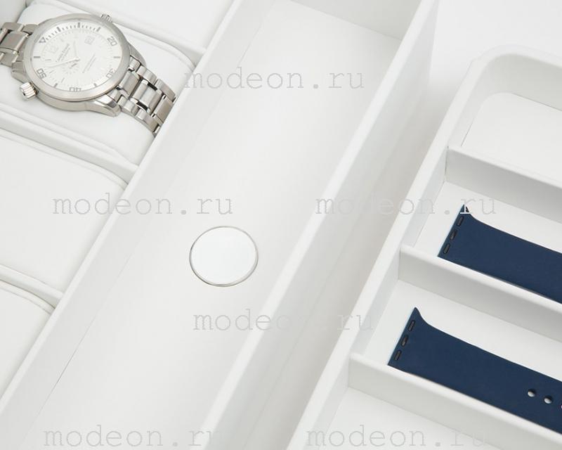 Бокс для 6 смарт-часов и Apple Watch, белый, 463101 Wolf