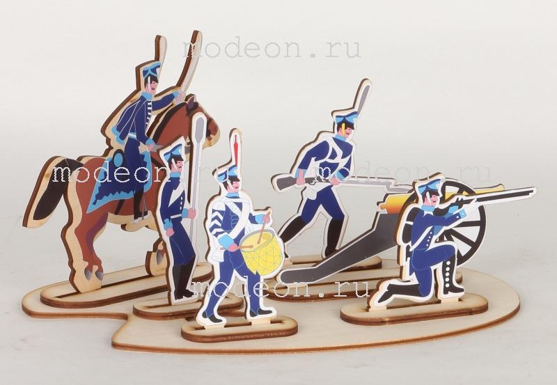 Детский набор для творчества из дерева Солдатики