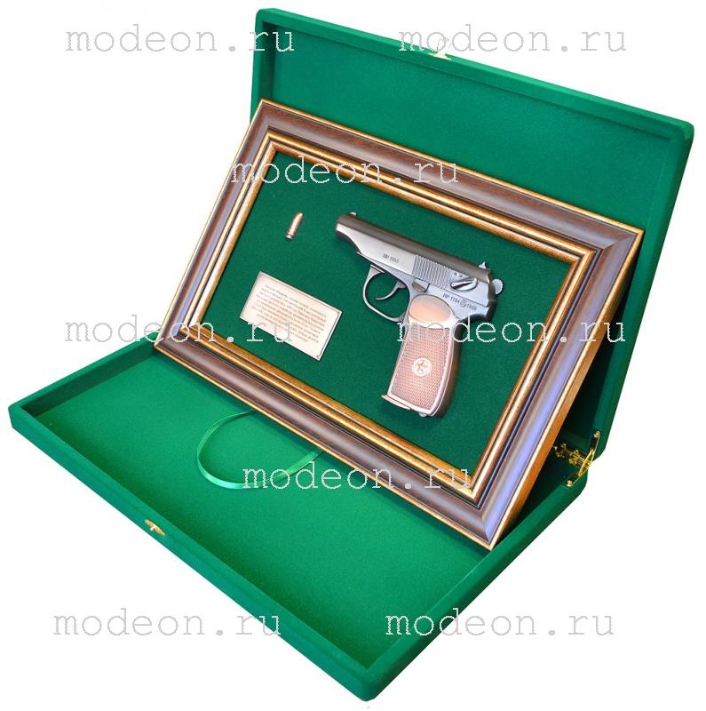 Панно с пистолетом Макаров, в подарочной коробке