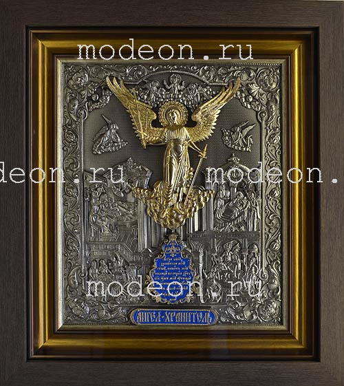 Икона Ангел Хранитель, с золочением