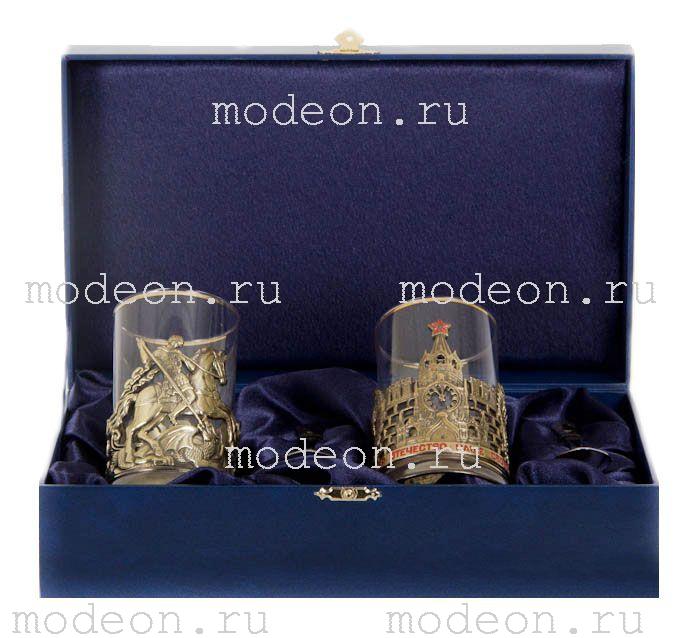 Чайная пара Георгий Победоносец и Славься Отечество, в подарочном ларце