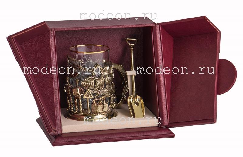 VIP Набор для чая Строители с ложкой