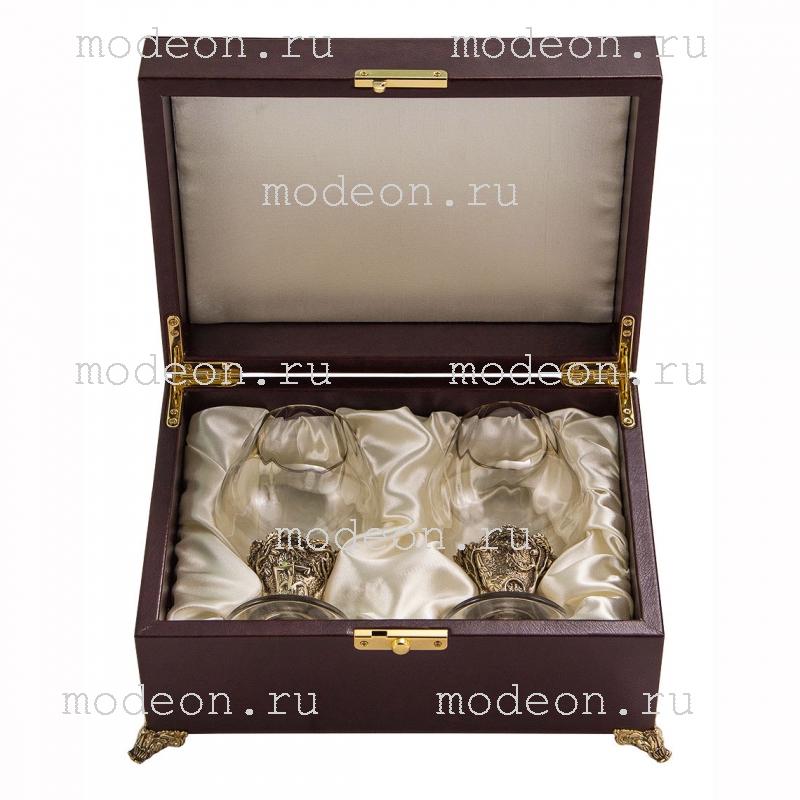 Набор бокалов для бренди Оптика, с Юбилеем 55 лет