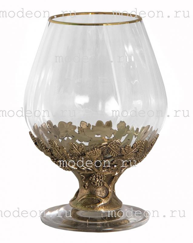 Набор из 6 бокалов для бренди Богемия Оптика, в лареце