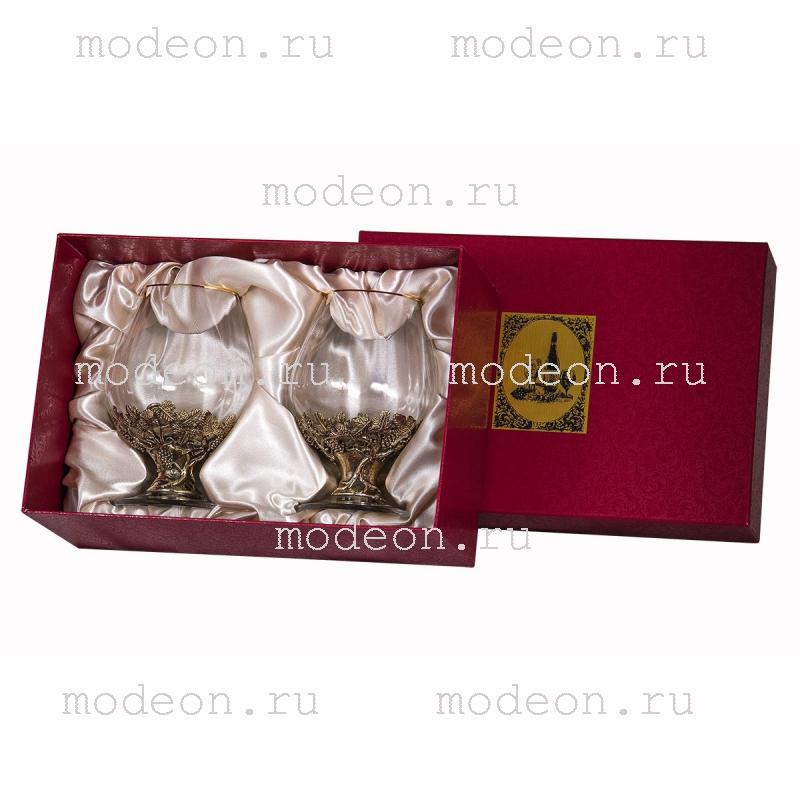 Набор из 2 бокалов для бренди Богемия Оптика, в коробке