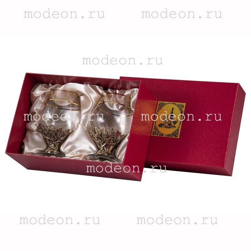 Набор из 2 бокалов для бренди Богемия Флорис, в коробке