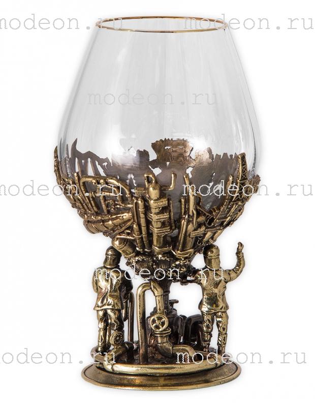 Набор из 2 бокалов для бренди Газ и нефть, богемия-оптика, в лареце