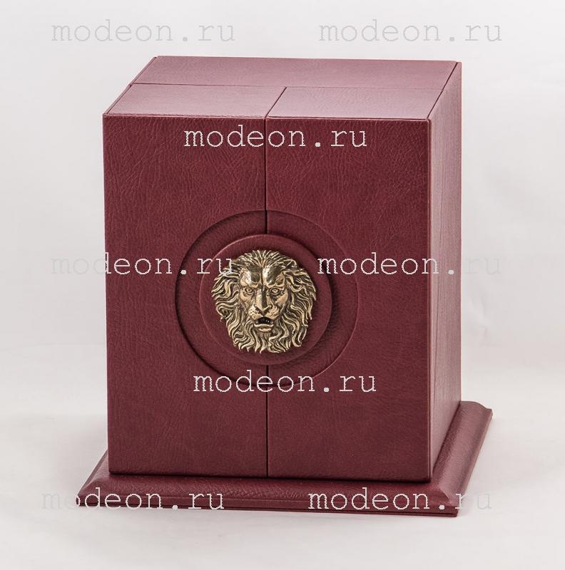 Бокал для бренди Княжеский, богемия-оптика в кожаном футляре