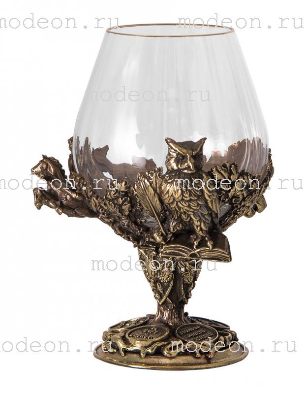 Набор из 2 бокалов для бренди Княжеский, богемия-оптика, в лареце