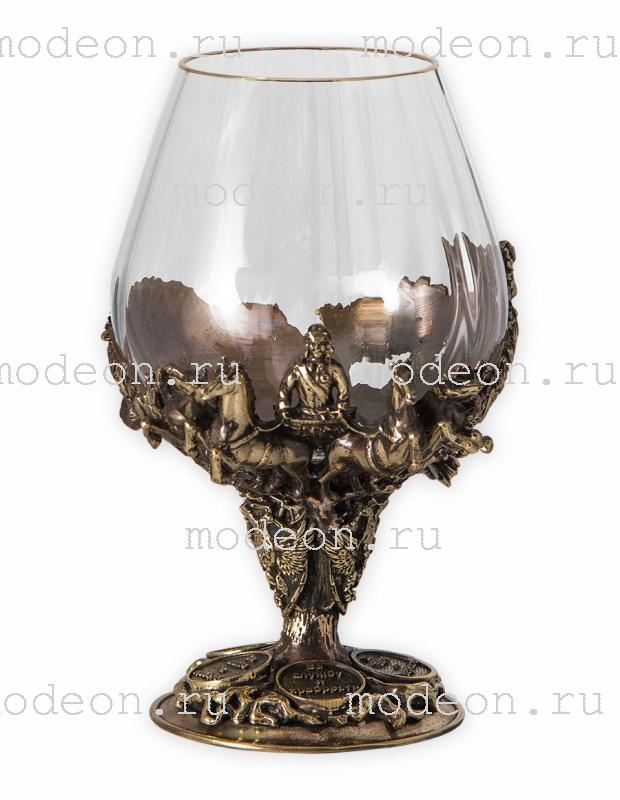 Набор из 6 бокалов для бренди Княжеский, богемия-оптика, в лареце