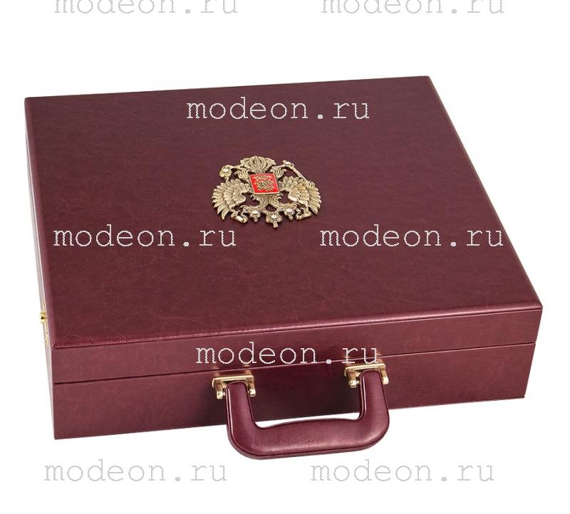 Подарочный набор Гусарский из латуни, в кейсе