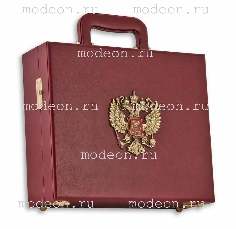 Подарочный набор из 6 рюмок Гусарский из латуни, в кейсе