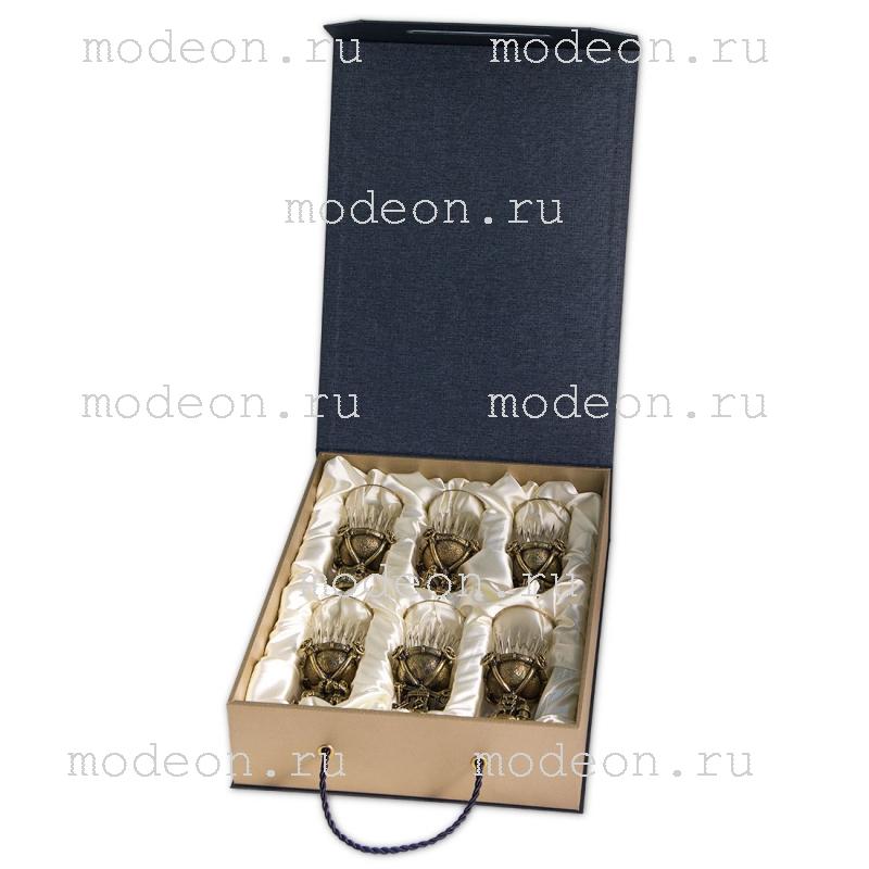 Набор из 6 стопок Нефть-Газ, в подарочной коробке