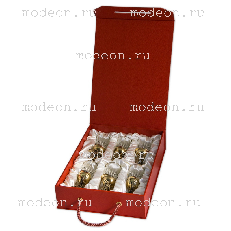 Набор из 6 стопок Строительные, в подарочной коробке
