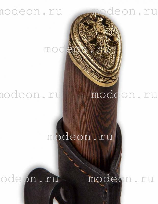Подарочный набор из 6 стопок Слава Русскому оружию и ножом, в кейсе