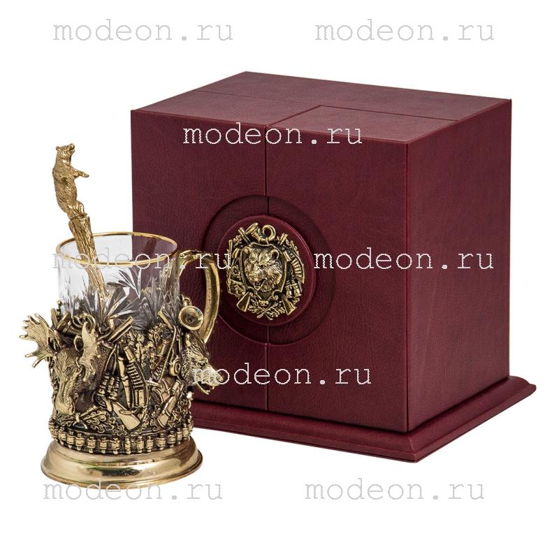 VIP Набор для чая с ложкой Охота-Трофеи