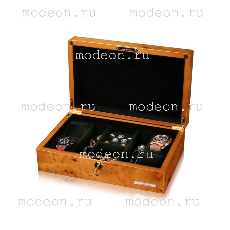 Шкатулка для часов и украшений Карельский узор, LUXOJOVANNI