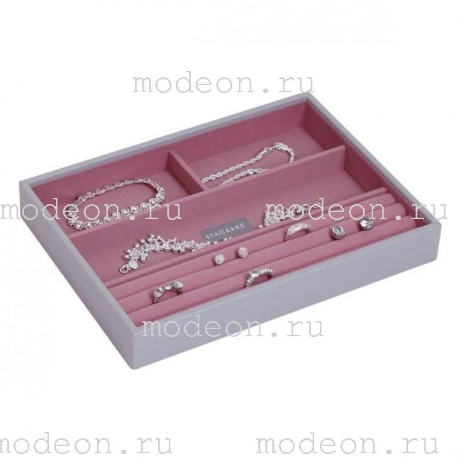 Лоток открытый для украшений Бирмингем-3, серый+розовый