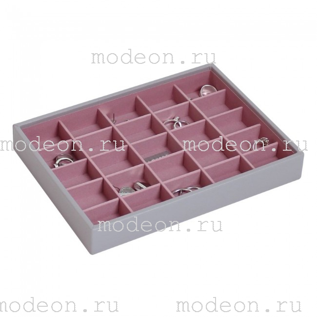 Лоток открытый для гарнитуров Бирмингем-2, серый+розовый