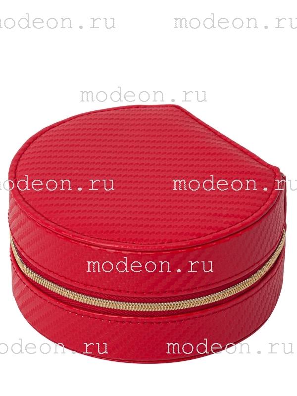 Дорожная шкатулка Круглая, красная