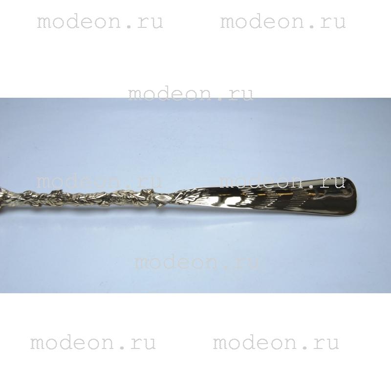 Латунная ложка для обуви Лесной кабан с держателем