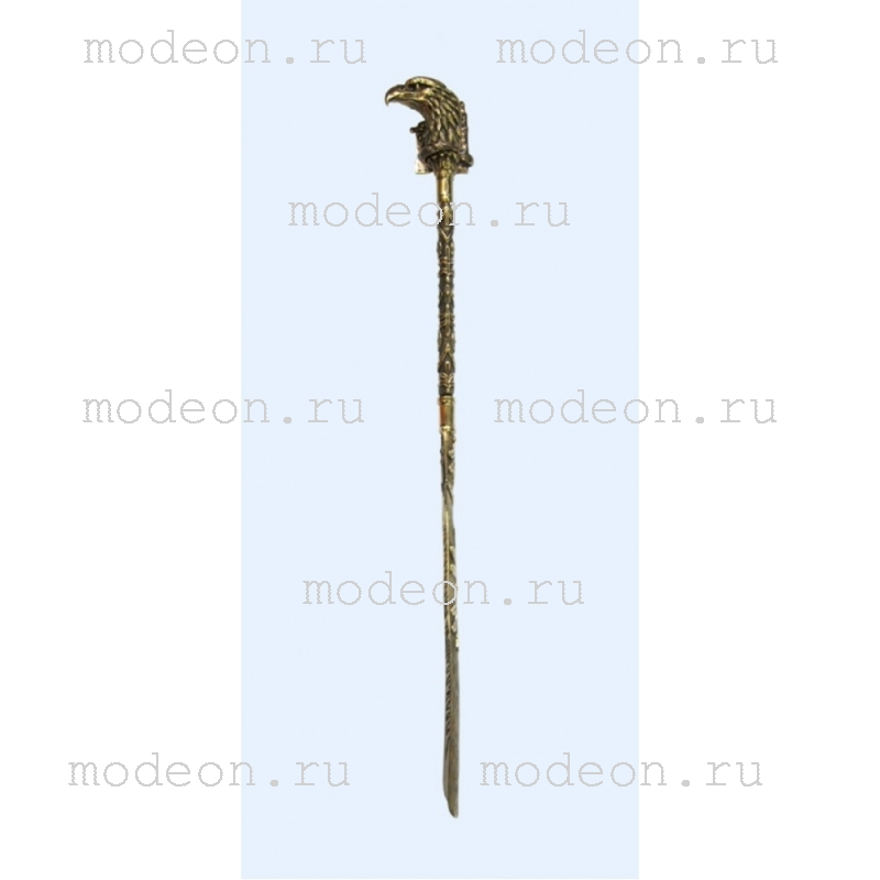Большая латунная ложка для обуви Орел с держателем