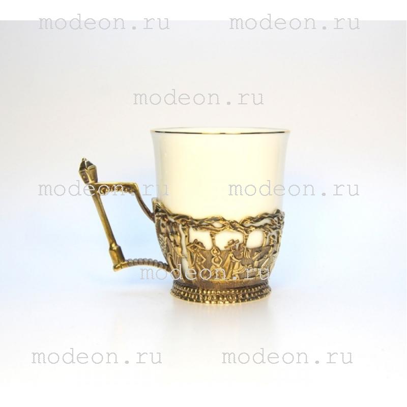 Чашка фарфоровая в подстаканнике Ярмарка