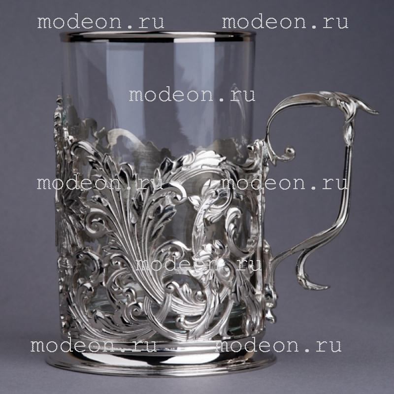 Подстаканник никелированный Герб Орнаментальный