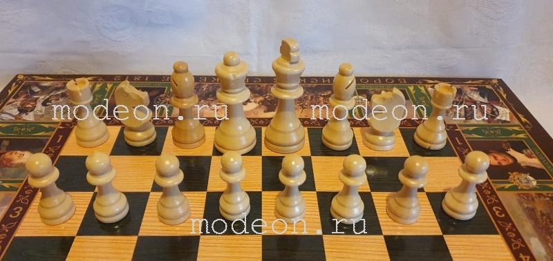 Шахматы, нарды, шашки на 50 Бородинское сражение