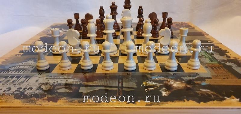 Шахматы, нарды, шашки на 50 Россия и Америка