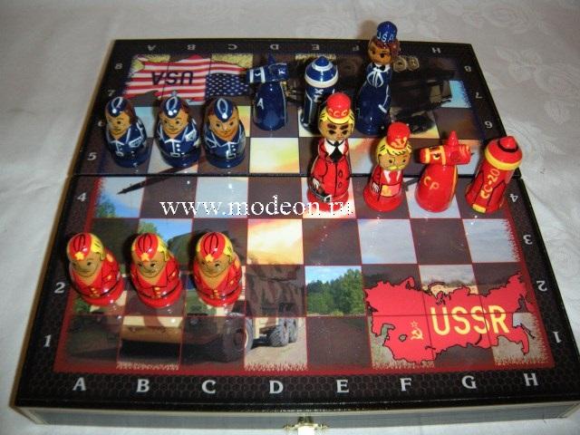 Шахматы сувенирные СССР и Америка