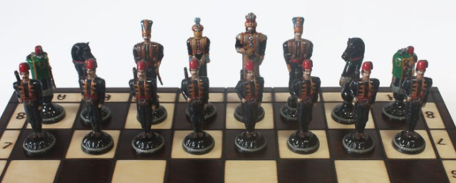 Шахматы Турки и русские.