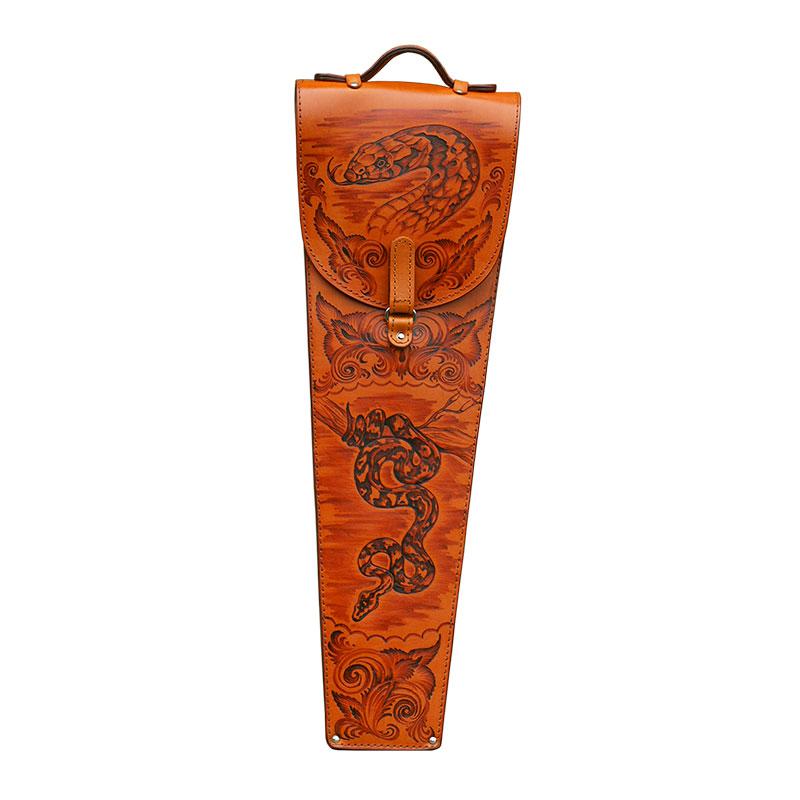 Шампура подарочные Парусник в колчане из натуральной кожи.