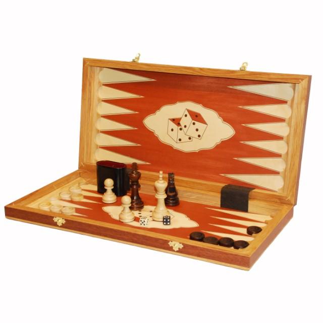 Шахматы, шашки, нарды Королевские, вишня.