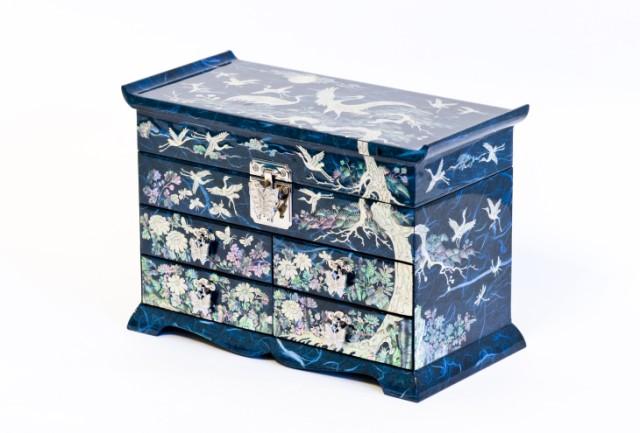 Комод для украшений Luxury blue