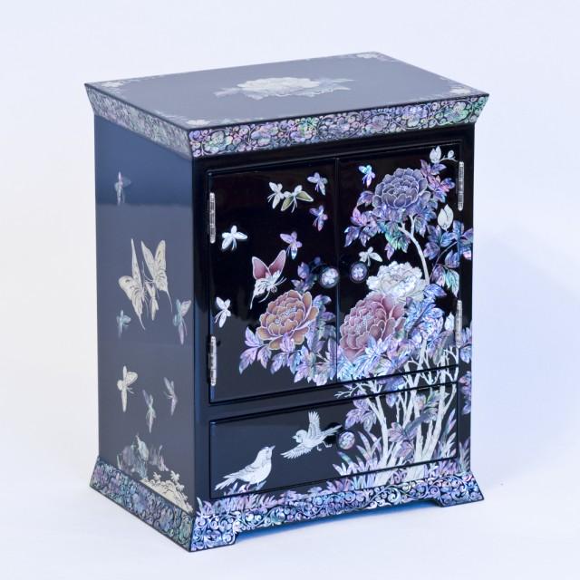 Шкатулка-комод для украшений Райские птички